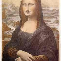 LHOOQ Mona Lisa with moustache
