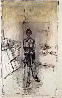 Annette in the studio by Alberto Giacometti