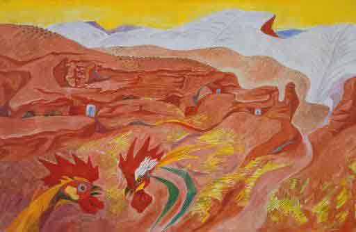 Ibdes in Aragon 1935 by Andre Masson
