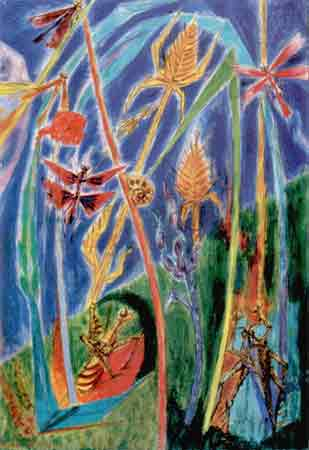 In the grass 1934 by Andre Masson