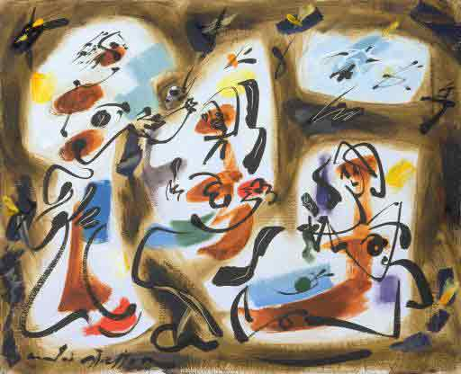 Kitchen maids 1961 by Andre Masson