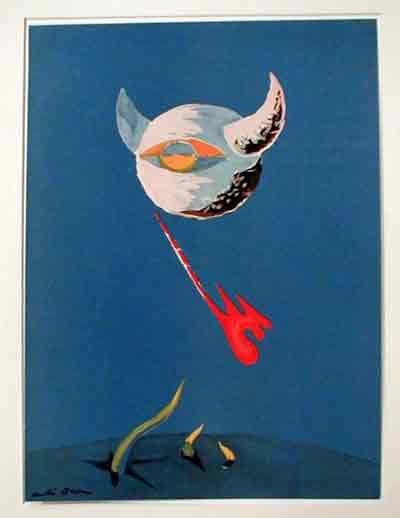 The Moon from an edition of the Verve 1938 by Andre Masson