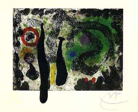 Le Jardin de Mousse 1968 by Jean Miro