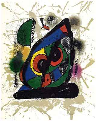 Lithographs IV by Jean Miro