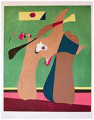 Une femme 1958 by Jean Miro