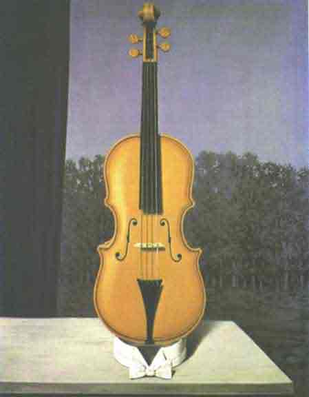 A little of the bandits soul by Rene Magritte