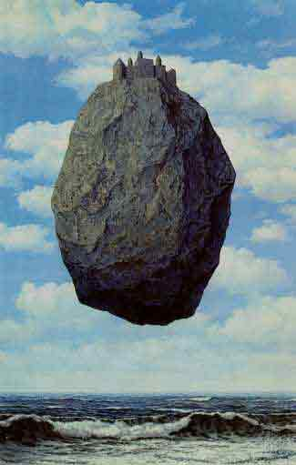 Castle in the Pyranees 1959 by Rene Magritte