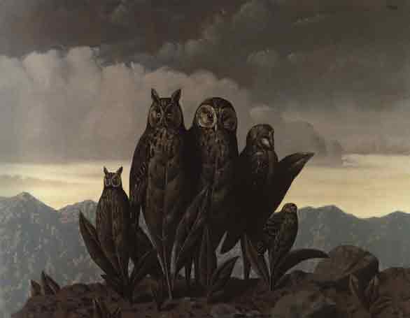 Companions of fear by Rene Magritte