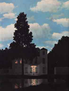 Empire of lights by Rene Magritte