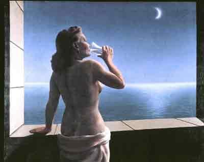 Les profondeurs du plaisir by Rene Magritte