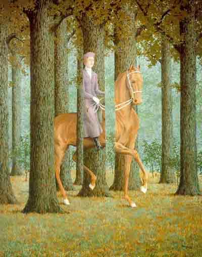 The Blank check 1965 by Rene Magritte