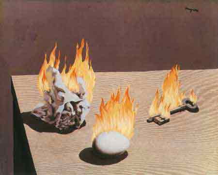The Gradation of fire 1939 by Rene Magritte