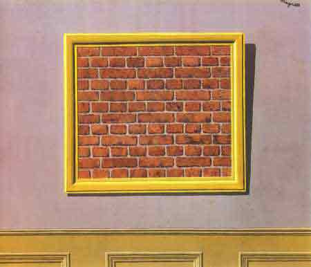 The empty picture frame 1937 by Rene Magritte