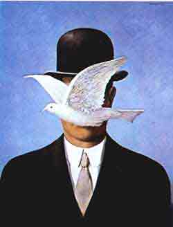 The man in the bowler hat 1964 by Rene Magritte