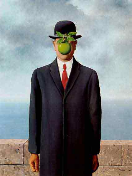 The son of man 1964 by Rene Magritte