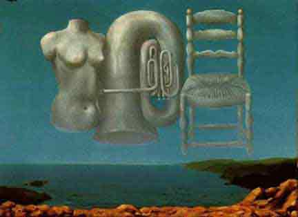 Threatening weather by Rene Magritte