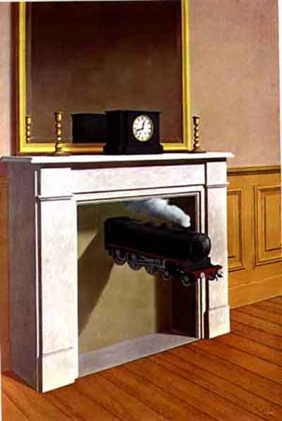 Time transfixed 1939 by Rene Magritte