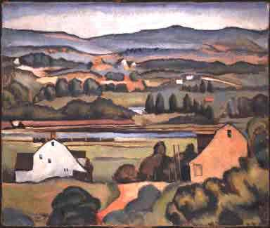 Ridgefield landscape 1913 by Man Ray