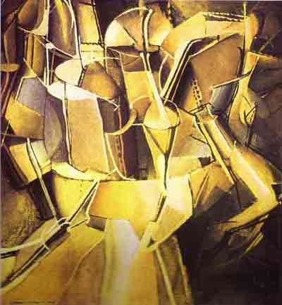 Transition of virgin into a bride 1912 by Marcel Duchamp