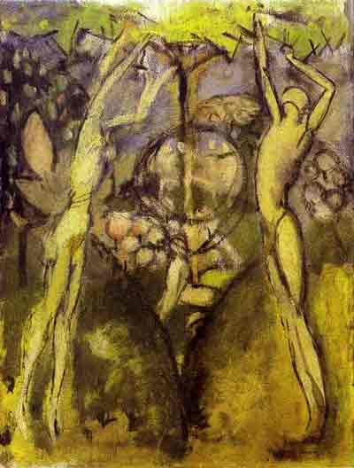 Young girl and man in spring 1911 by Marcel Duchamp