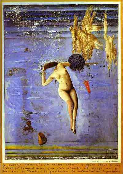 Approaching puberty 1921 by Max Ernst