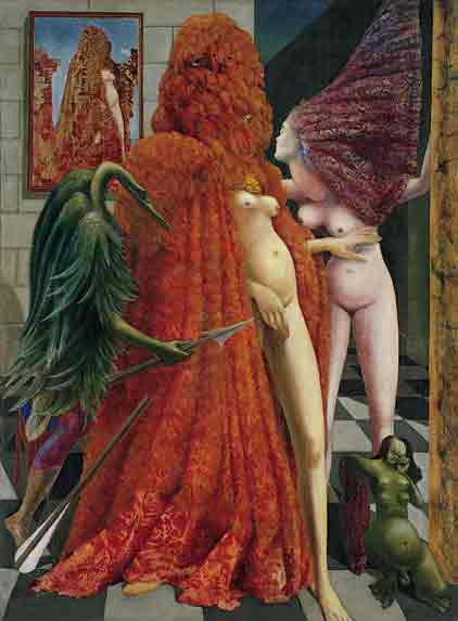 Attirement of the bride 1940 by Max Ernst