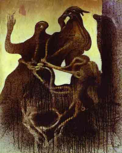 Birth of zoomorph couple 1933 by Max Ernst