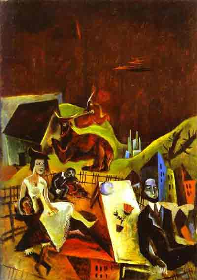 Family excursions 1919 by Max Ernst