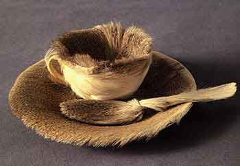 Fur covered breakfast 1936 by Meret Oppenheim