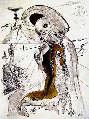 Athena by Salvador Dali