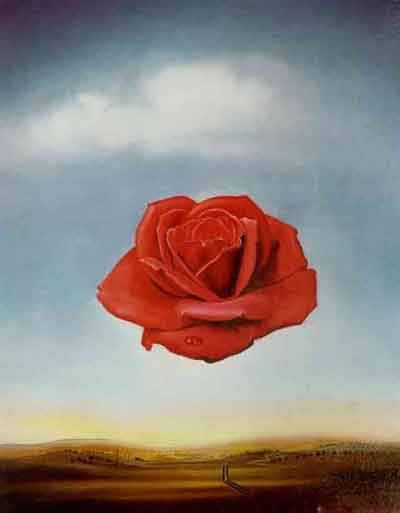 Meditative rose by Salvador Dali