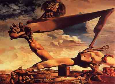 Premonition of civil war 1936 by Salvador Dali
