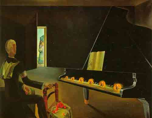 Six apparitions of Lenin on a piano 1931 by Salvador Dali