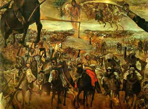 The Battle of Teutan by Salvador Dali