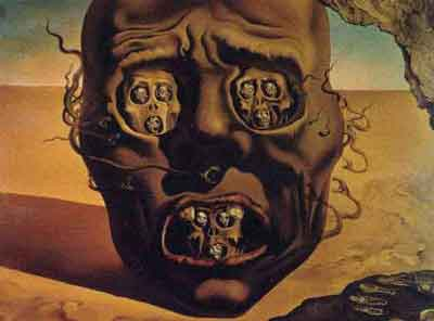 The visage of war by Salvador Dali