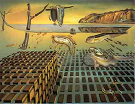 The disintegration of the persistence of memory 1952-54 by Salvador Dali