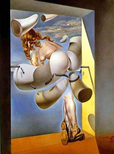 Young virgin autosodomised by her own chastity 1954 by Salvador Dali