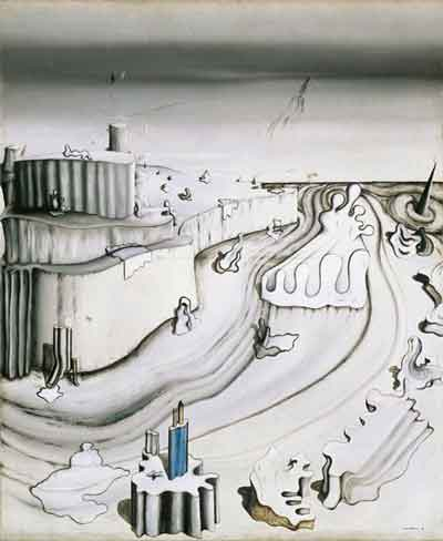Promontory palace 1931 by Yves Tanguy