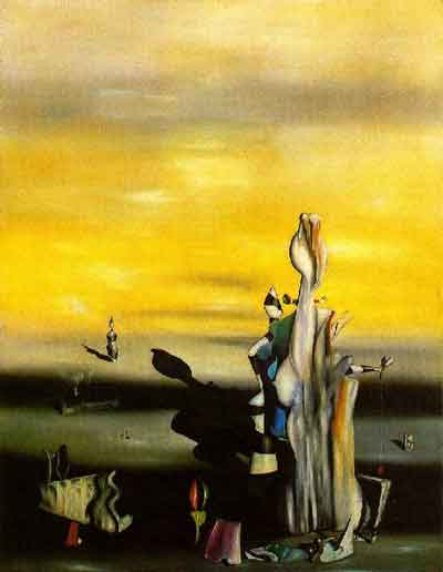 The absent lady 1942 by Yves Tanguy