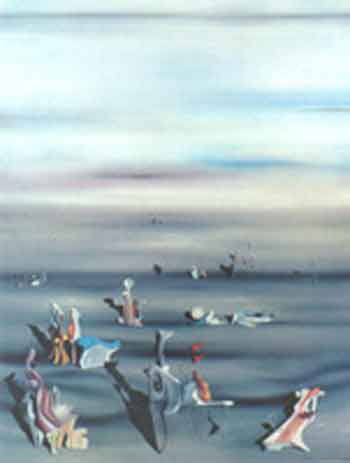 The furniture of time 1939 by Yves Tanguy