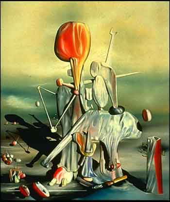 Through birds through fire but not through glass 1943 by Yves Tanguy