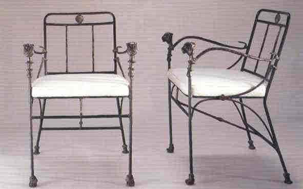 Lionhead arm chairs 1950