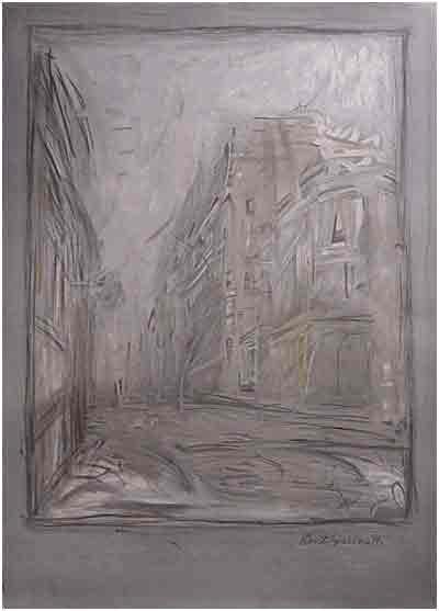 Rue d'Alesia-Exposition 1954 by Alberto Giacometti