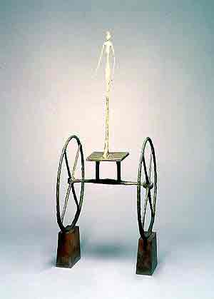 The Chariot 1950 by Alberto Giacometti