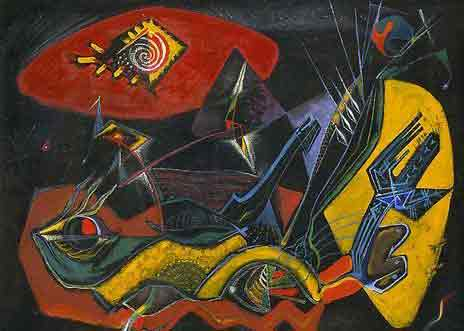 The seeded earth 1942 by Andre Masson