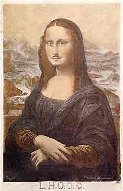 LHOOQ Mona Lisa with moustache