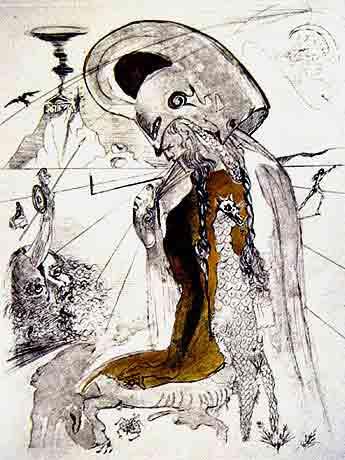 Athena by Salvador Dali