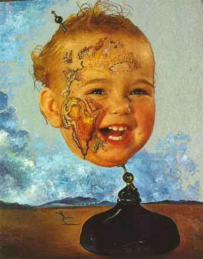 Baby map of the world by Salvador Dali