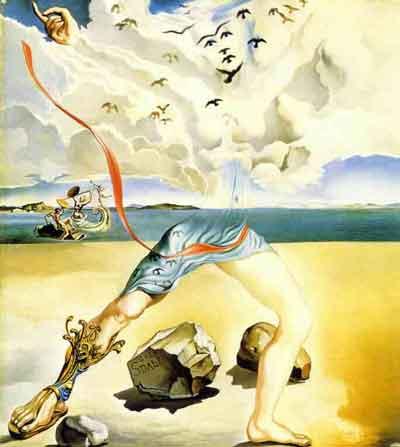 Paysage fantastique midi heroique 1943 by Salvador Dali