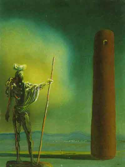 The Knight at the tower by Salvador Dali